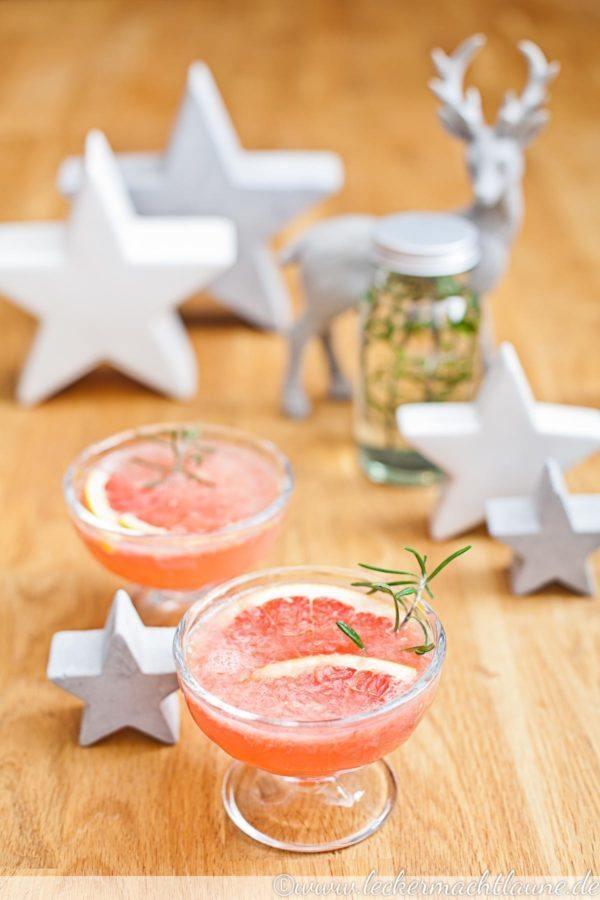 Rezept Grapefruit-Rosmarin-Mocktail