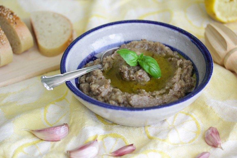 Rezept Griechischer Auberginensalat (Dipp/Aufstrich)