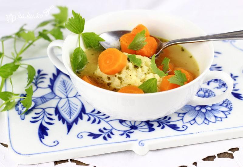 Rezept Grießnockerlsuppe mit Karotten