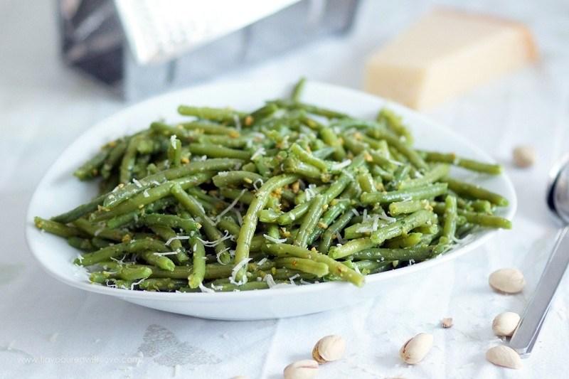Rezept Grüne Bohnen mit Pistazienpesto