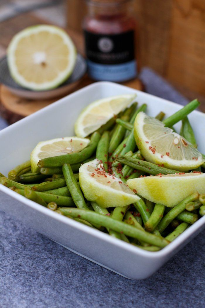 Rezept Grüne Bohnen mit Zitronenöl