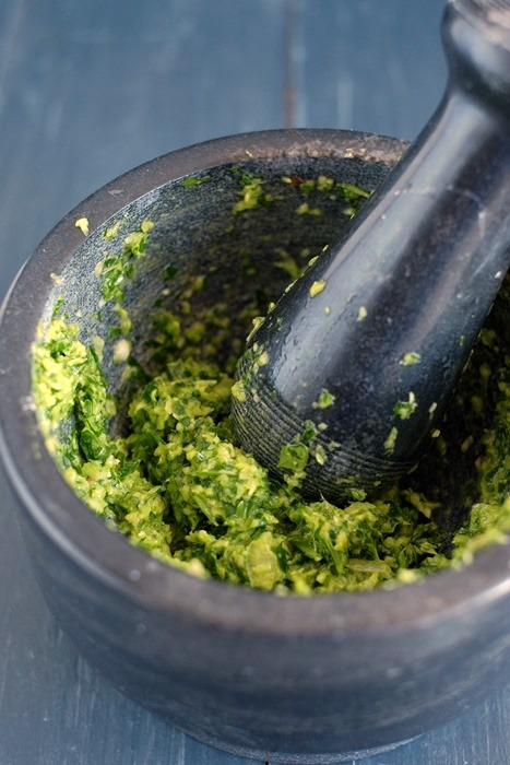 Rezept Grüne Chilipaste