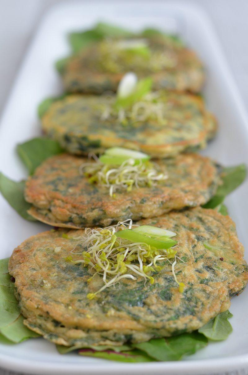 Rezept Grüne Pfannkuchen mit Limettenbutter