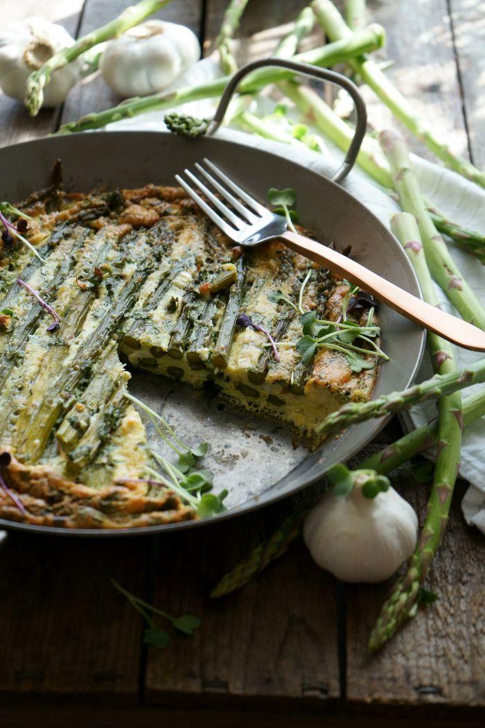 Rezept Grüne Spargel-Frittata low-carb