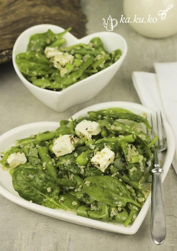"""Rezept """"Grüner Salat"""" mit Quinoa, Gemüse und Kräutern"""
