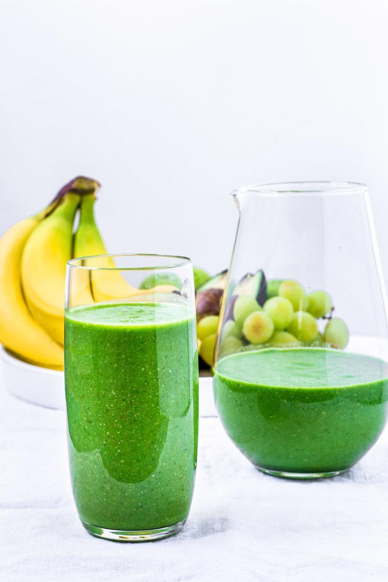 Rezept Grüner Smoothie mit Avocado und Spinat