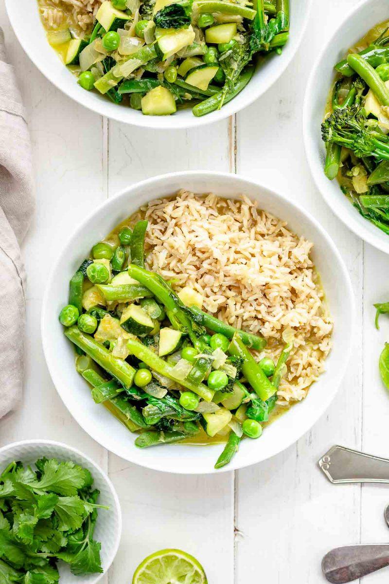 Rezept Grünes Thai Curry mit Frühlings-Gemüse
