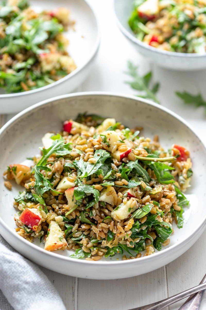 Rezept Grünkern-Salat mit Apfel & Parmesan