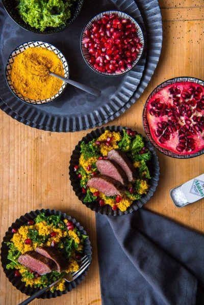 Rezept Grünkohl Bulgur Salat mit Lamm
