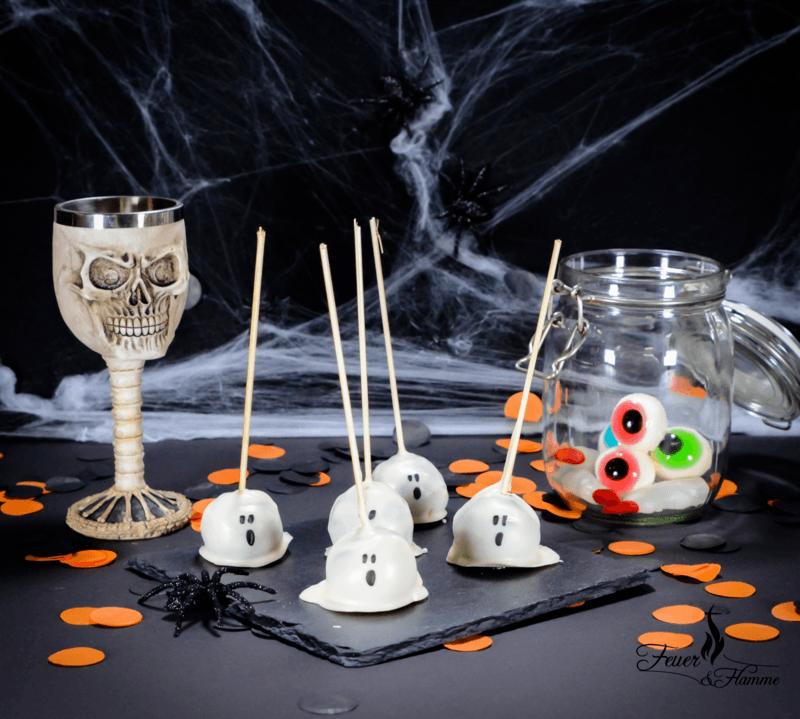 Rezept Gruselige Geister Cake Pops