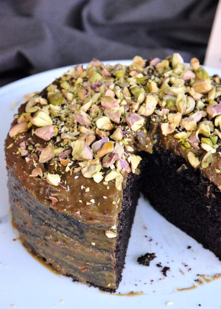 Rezept Guinness-Cake mit Salzkaramell und Pistazie