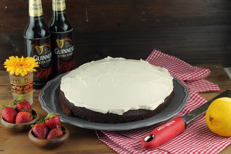 Rezept Guinnesskuchen mit Frischkäsefrosting
