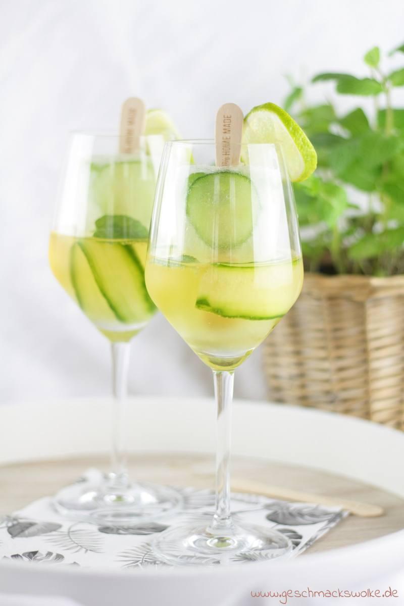 Rezept Gurken-Gin-Poptails – Erfrischendes Cocktail-Eis am Stiel