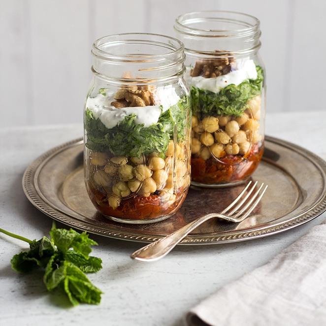 Rezept Gurken-Kichererbsen-Salat to go