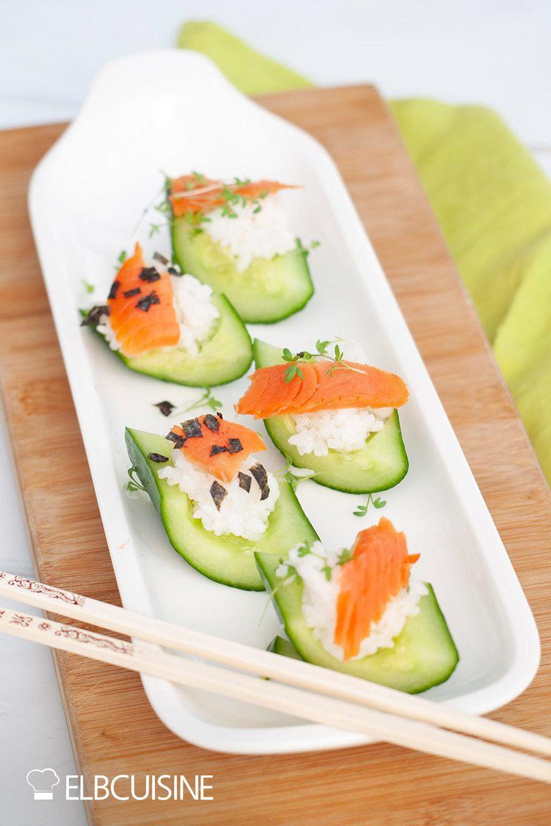 Rezept Gurken-Lachs-Sushi