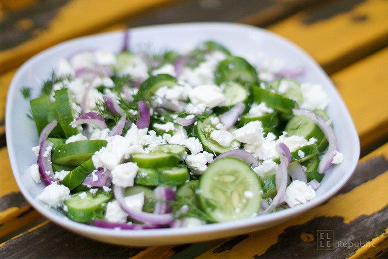 Rezept Gurkensalat mit Dill und Feta