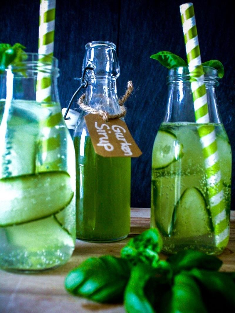 Rezept Gurkensirup und Limonade