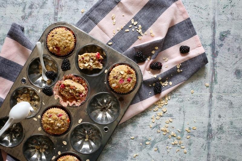 Rezept Hafer-Muffins mit Beeren und griechischem Joghurt