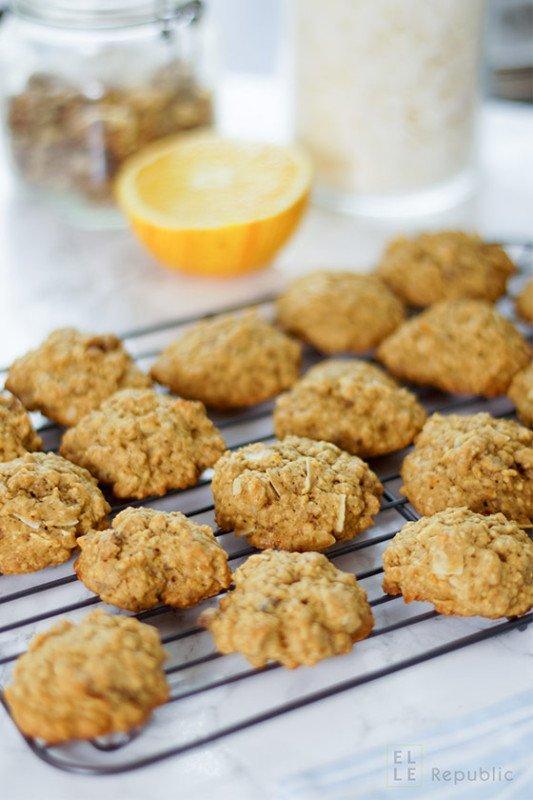 Rezept Haferflocken Cookies mit Orange und Nüssen