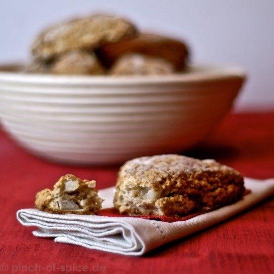 Rezept Haferflockenscones mit Apfel und Zimt