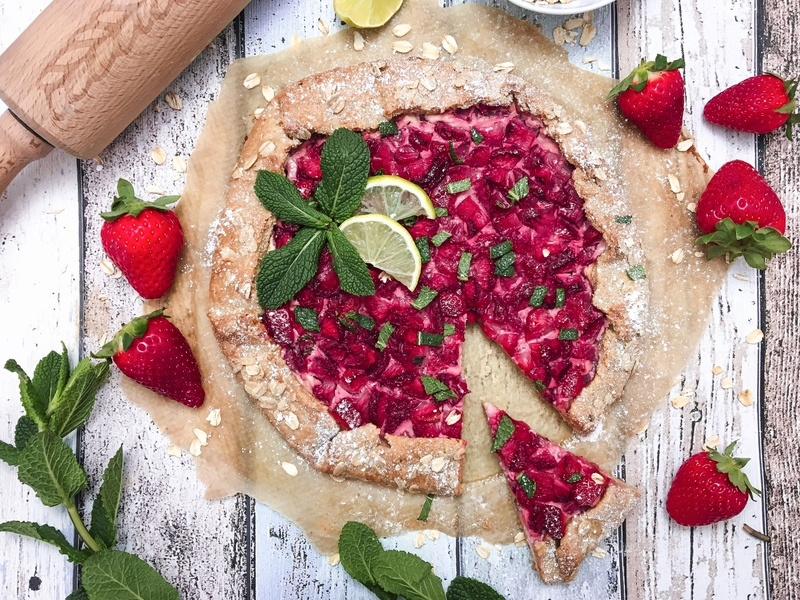 Rezept Hafergalette mit Erdbeer-Limetten Füllung