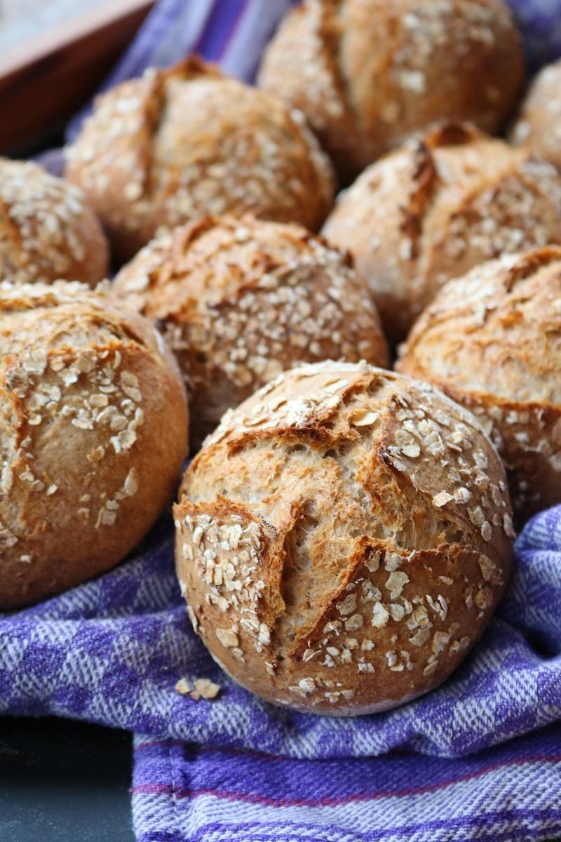 Rezept Haferle - Frühstücksbrötchen mit Haferkleie