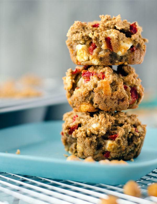 Rezept Hafermuffins mit Feta und Paprika