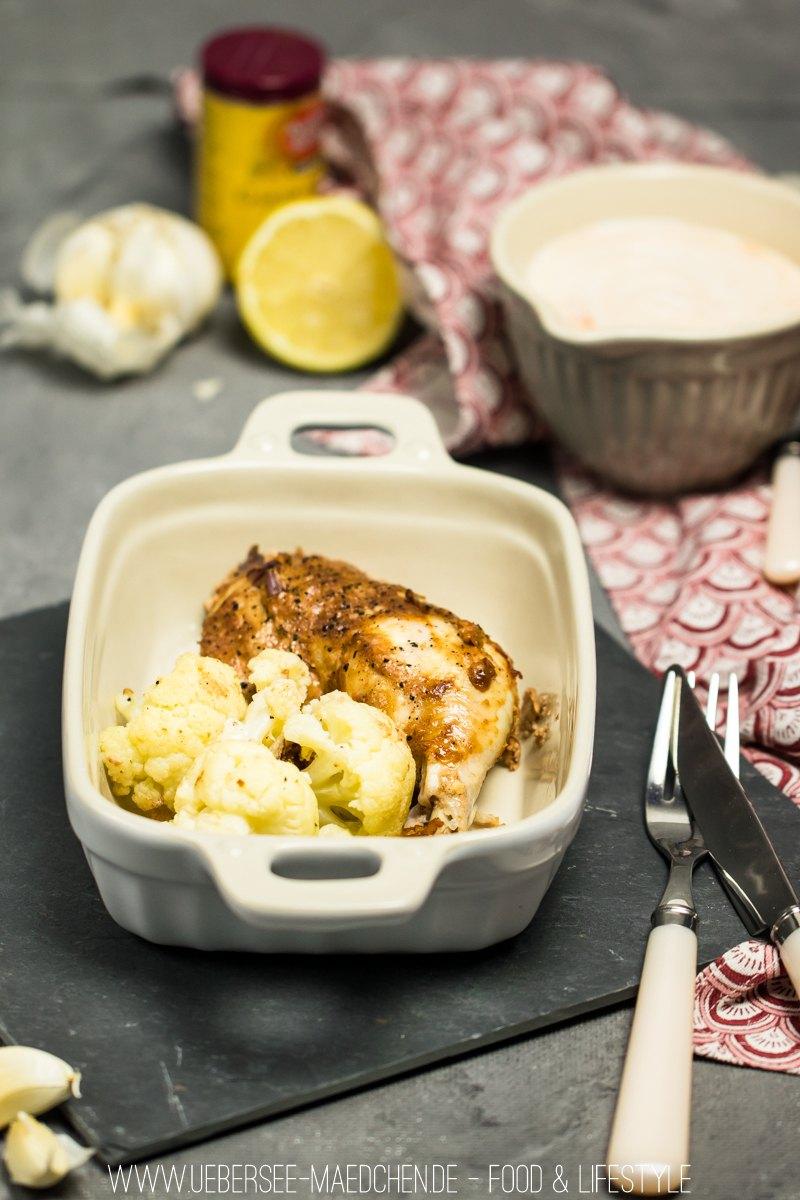 Rezept Hähnchen Tikka Masala mit Blumenkohl vom Blech