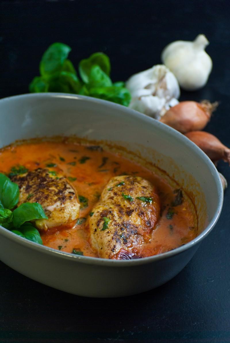 Rezept Hähnchenbrust mit Basilikum und Knoblauch