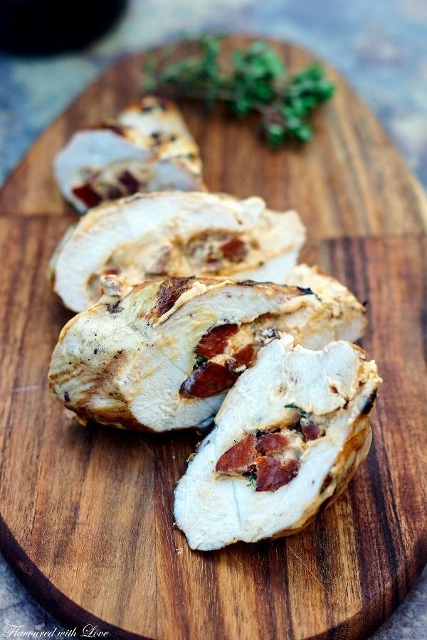 Rezept Hähnchenbrust mit Chorizofüllung