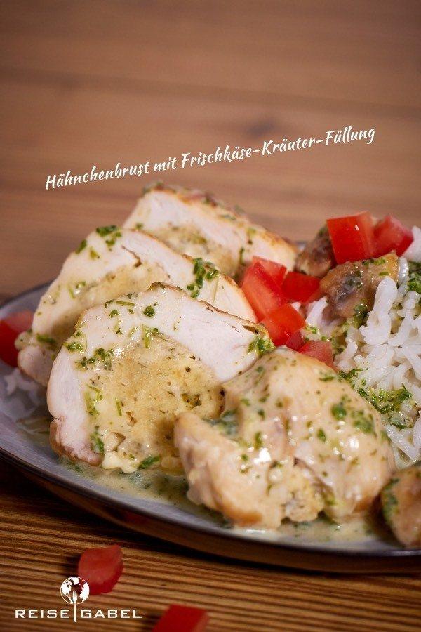 Rezept Hähnchenbrust mit Frischkäse-Kräuter-Füllung