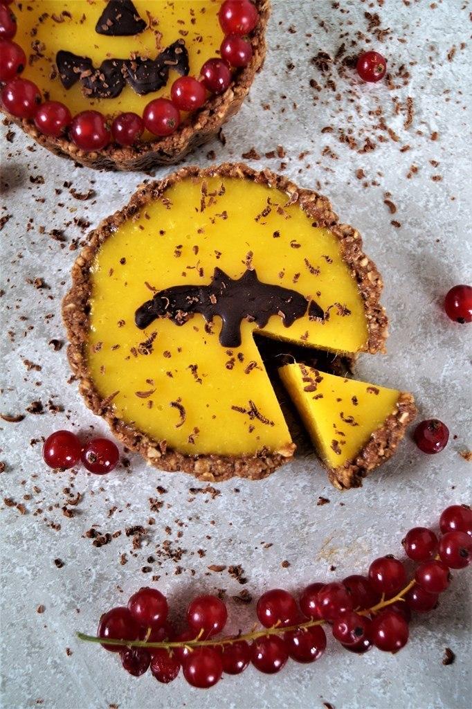 Rezept Halloween Tarte : Mango-Haselnuss-Tartelette