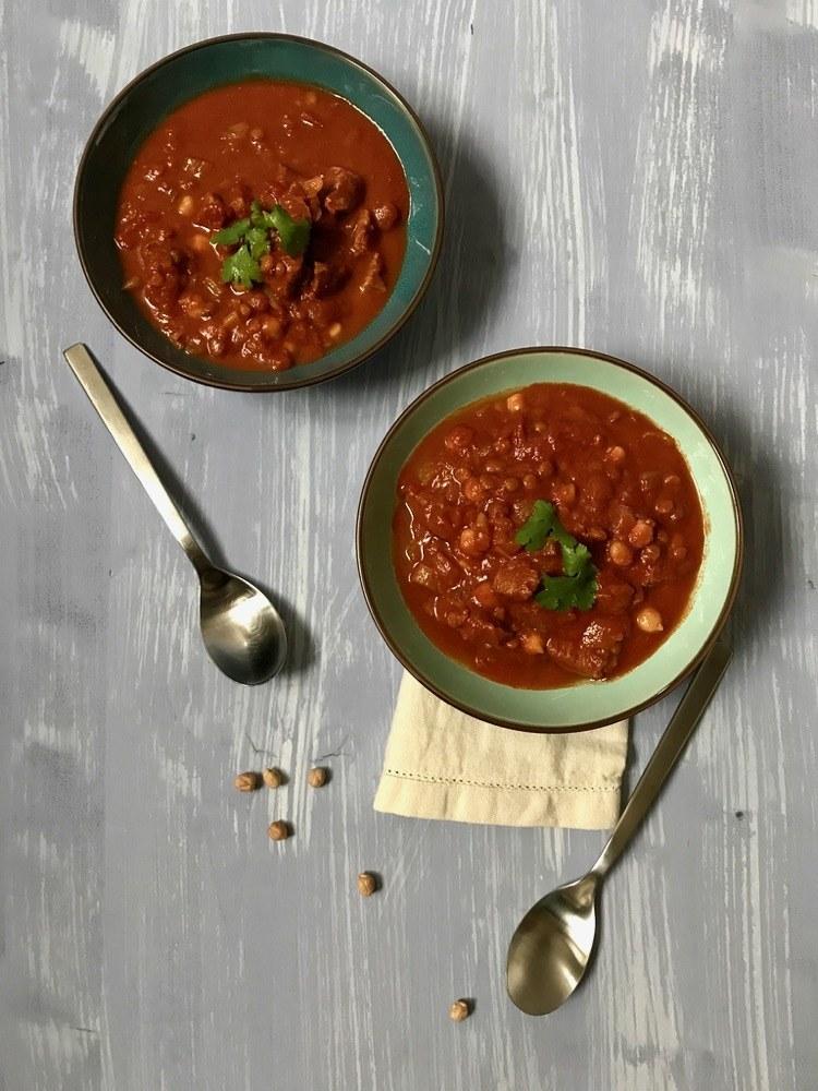 Rezept Harira – marokkanische Suppe aus Tomaten, Kichererbsen und Lamm