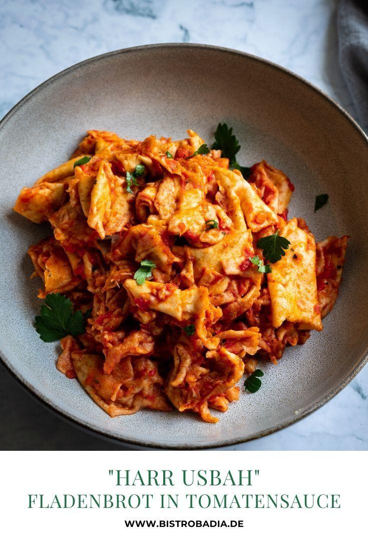 Rezept Harr Usbah: Fladenbrot in Tomatensauce
