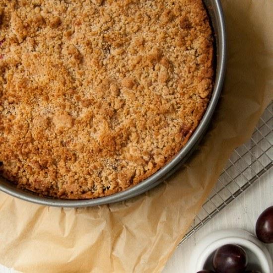 Rezept Haselnuss-Pflaumen-Streuselkuchen