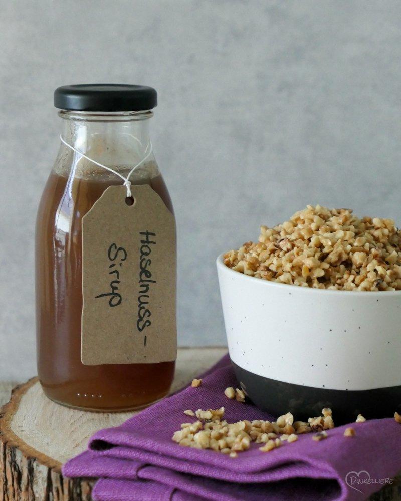 Rezept Haselnuss-Sirup und Haselnuss-Krokant