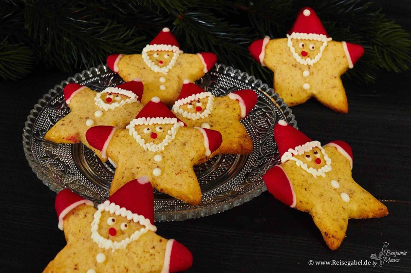 Rezept Haselnuss Weihnachtsmann-Sterne