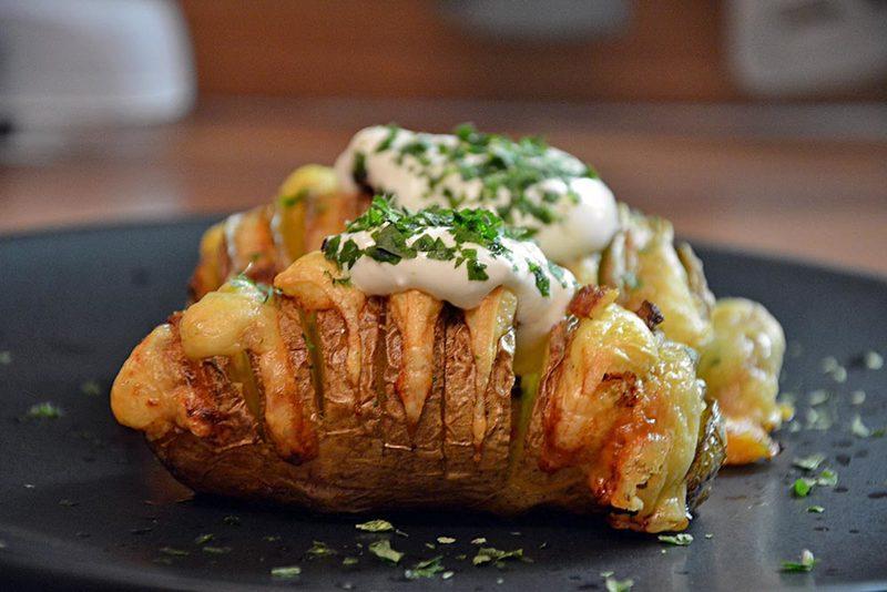 Rezept Hasselback Kartoffeln aus dem Ofen