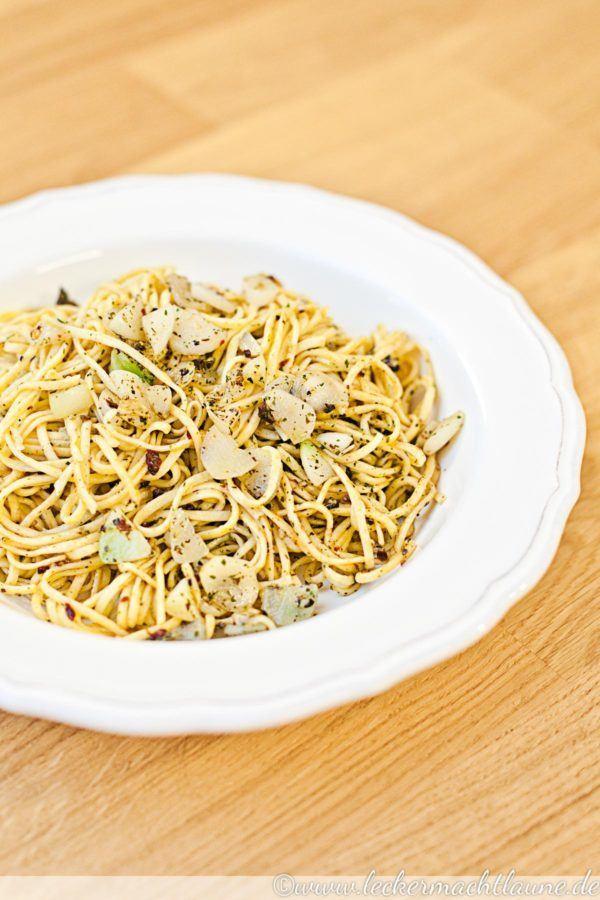 Rezept Hausgemachte Spaghetti aglio e olio