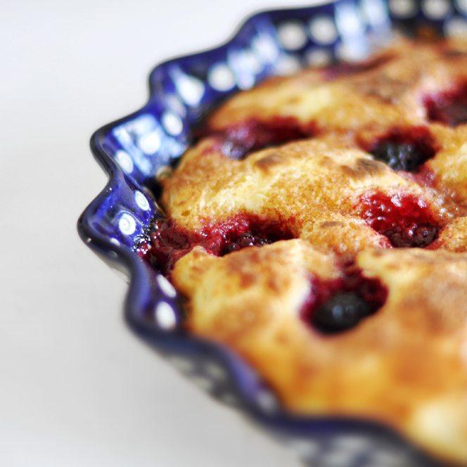 Rezept Hefekuchen mit Brombeeren und Zimt