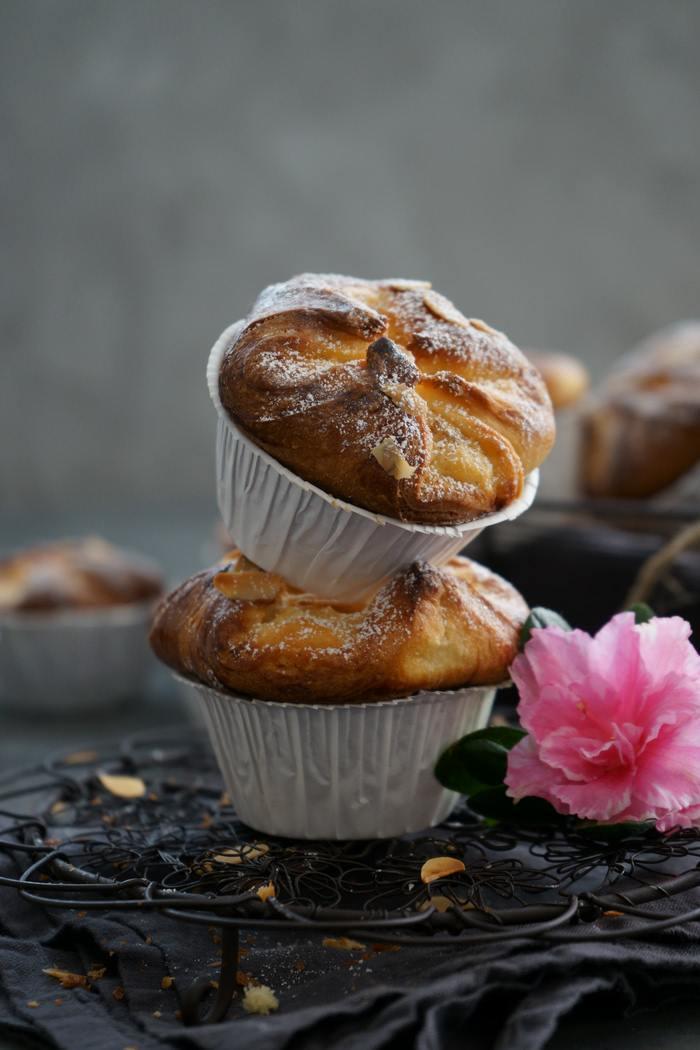 Rezept Hefeteig Muffins mit Quark-Apfel-Füllung