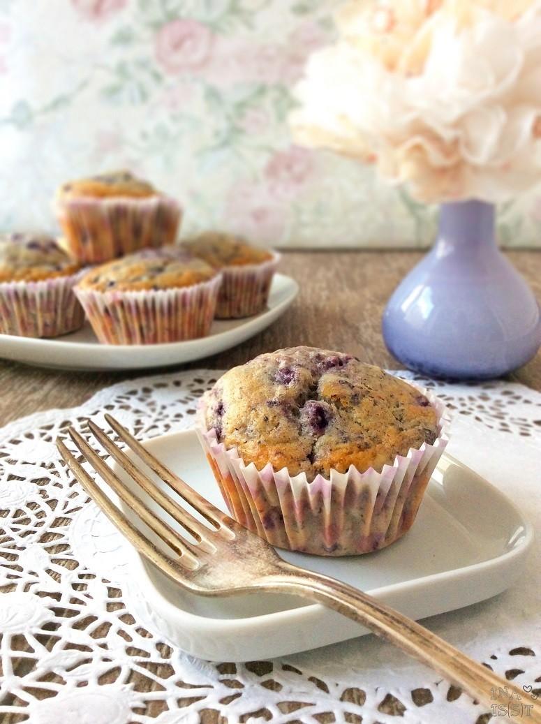 Rezept Heidelbeer-Buttermilch-Muffins