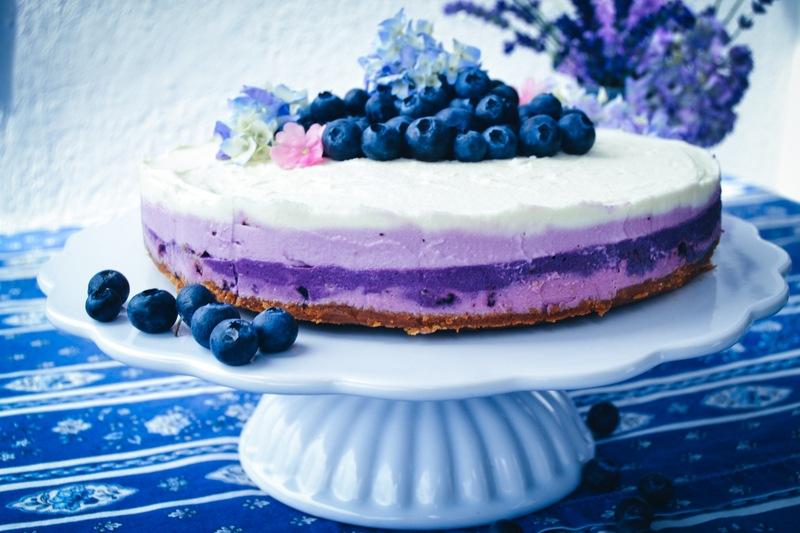 Rezept Heidelbeer-Frischkäse-Torte