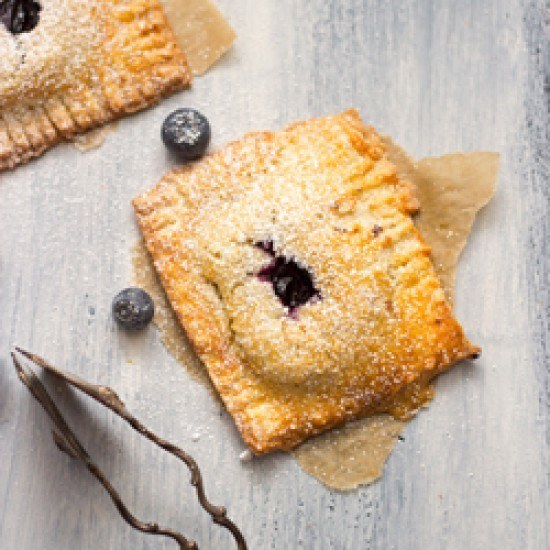 Rezept Heidelbeer hand pies mit Vanillepudding