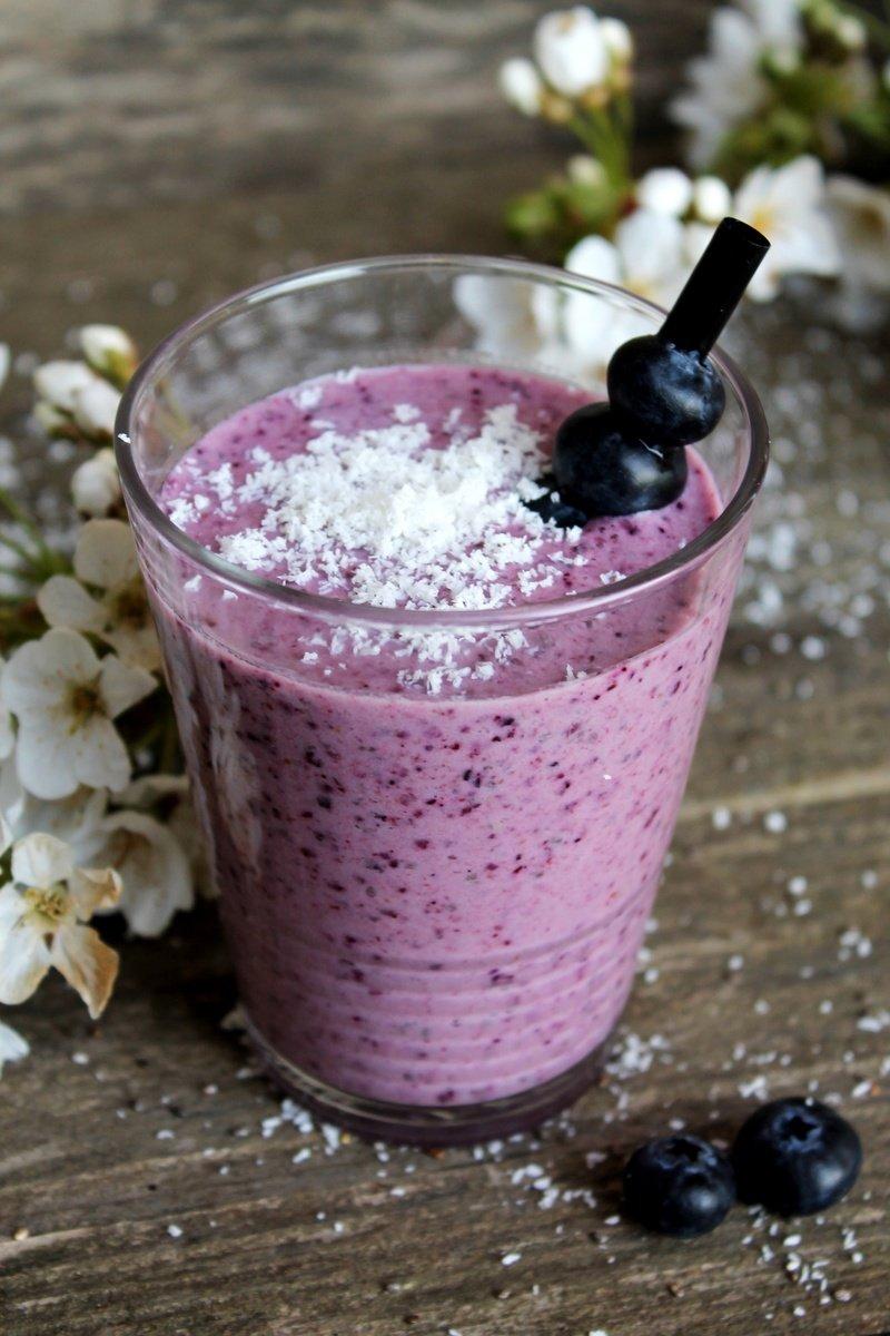Rezept Heidelbeer-Kokos-Drink