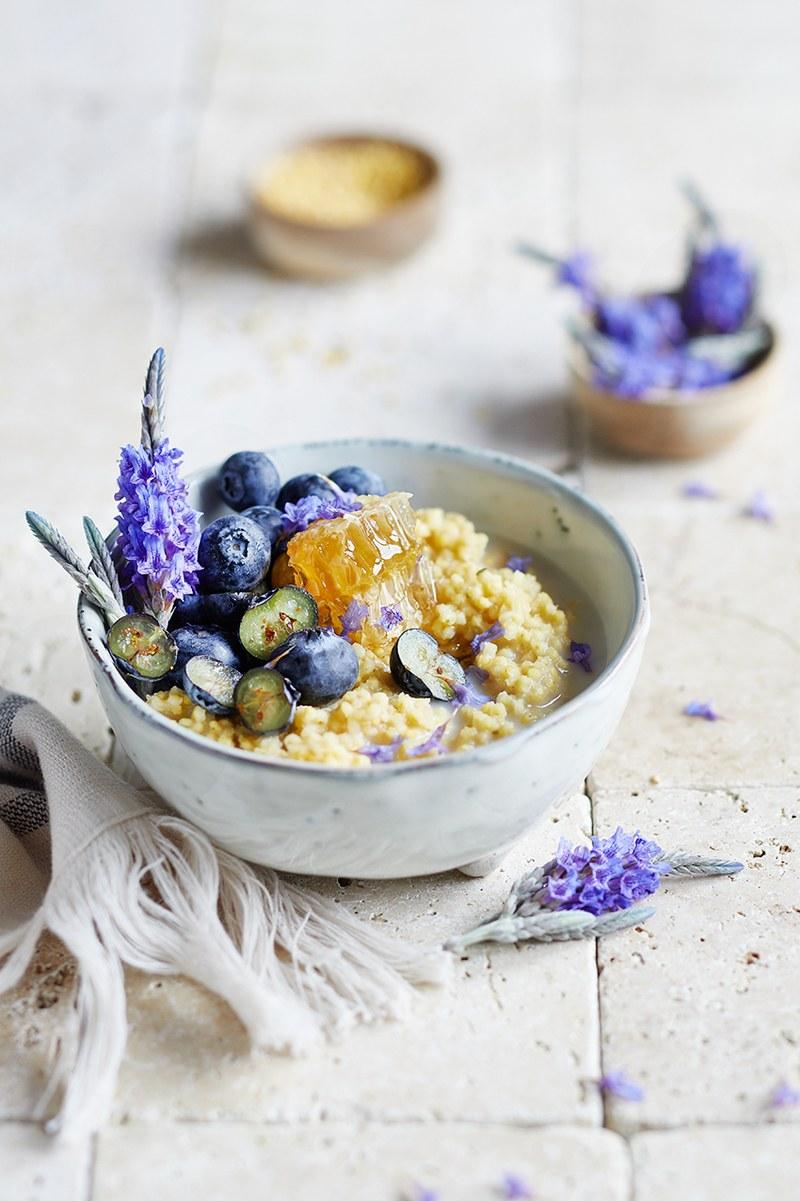 Rezept Heidelbeer-Lavendel Hirsebrei