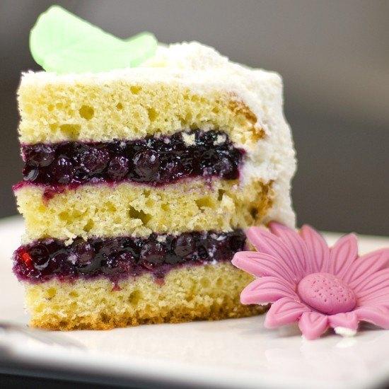 Rezept Heidelbeer-Vanille-Torte