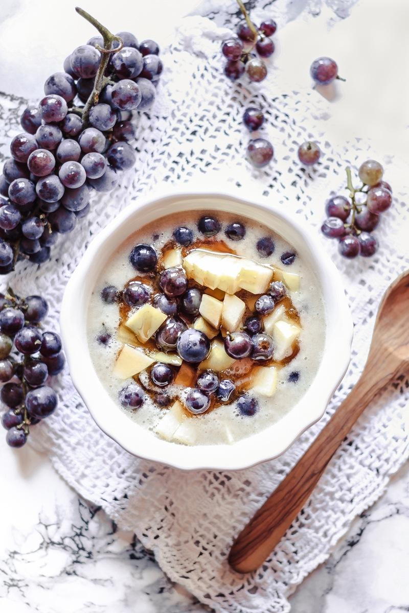 """Rezept Herbstliche """"Bananenmilch"""" Fruit Bowl"""