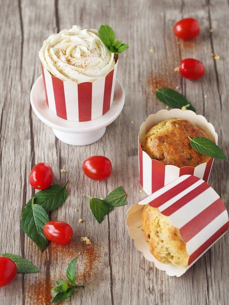 Rezept Herzhafte Polenta-Cupcakes mit Quark