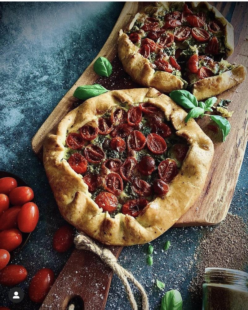 Rezept Herzhafte Tomaten-Spinat-Galette